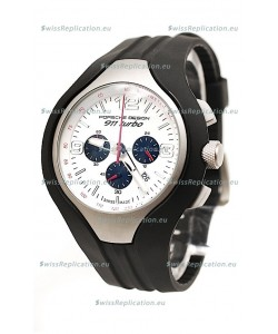 Porsche Design 911 Turbo Speed II Chronograph Japanese Watch in White Dial