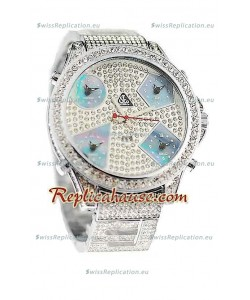 Jacob & Co Diamond Japanese Replica Watch in Light Blue Sub Dial