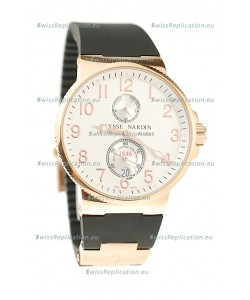 Ulysse Nardin Maxi Marine Chronometer Japanese Replica Rose Gold Watch