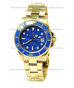 Rolex Submariner Swiss Replica Watch in Ceramic Bezel Gold Bezel