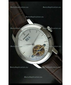 Audemars Piguet Jules Tourbillon Japanese Replica Watch in Silver Dial