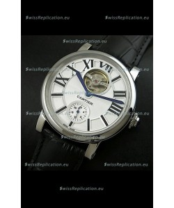 Ballon De Cartier Flying Tourbillon Japanese Replica Watch - Black Strap