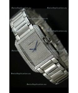 Cartier Tank Anglaise Ladies Replica Watch in Steel Case/Strap