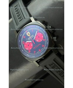 Ferrari Chronograph Swiss Replica Watch in Black Dial