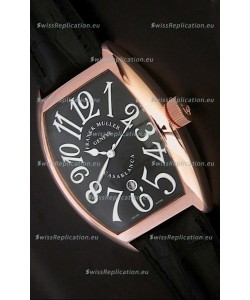 Franck Muller Crazy Hours Japanese Replica Watch in Black Dial