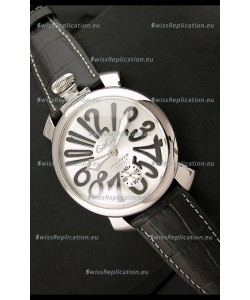 Gaga Milano Italy Japanese Replica Watch in Black Arabic Markers