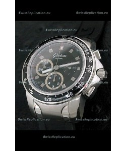 Glashuette Sport Evolution Swiss Chrono Watch in Black Dial