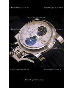 Graham Chronofighter Oversize Swiss Replica Watch in White Dial