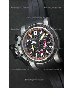 Graham Chronofighter Commander Swiss Replica Watch in Black Dial