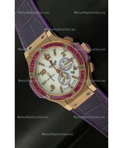 Hublot Big Bang All Black Edition Japanese Quartz Watch in Pink Gold