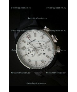 Montblanc Timewalker Watch Chrono in White Dial