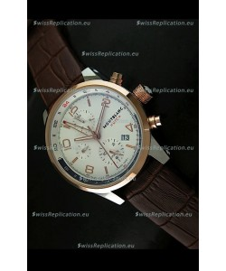Mont Blanc UTC Japanese Replica Watch in Gold Bezel