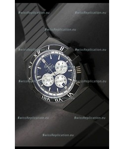 Omega Double Eagle Chronograph PVD Black Watch