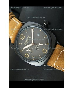 Panerai Radiomir PAM497 10 Days Japanese Replica Watch in PVD Case