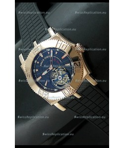 Roger Dubuis Tourbillon Excalibur Swiss Watch in Blue Dial