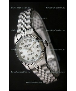 Rolex Datejust Oyster Perpetual Superlative ChronoMeter Swiss Watch in Diamond Markers