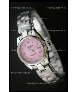RolexDatejust Oyster Perpetual Superlative ChronoMeter Swiss Watch in Pink Dial