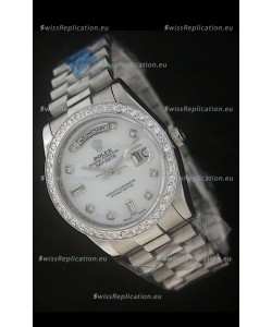 Rolex Day Date Just swissReplica Watch in White Dial
