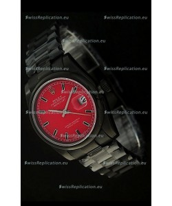 Rolex Datejust Japanese Replica PVD Watch in Red Dial