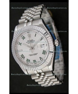 Rolex DateJust Japanese Replica Watch in Green Roman Hour Markers