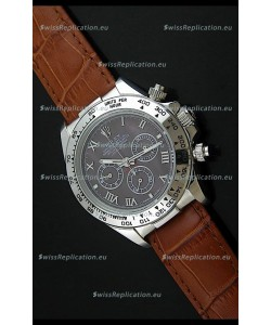 Rolex Daytona Japanese Replica Steel Watch in Grey Dial