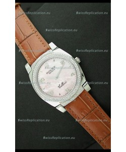 Rolex Cellini Japanese Replica Watch in Mother of Pearl Pink Dial