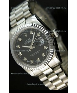 Rolex Replica Datejust Mens Japanese Watch in Black Dial - 41MM