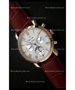 Vacheron Constantin Perpetual Calendar Japanese Watch in White Dial