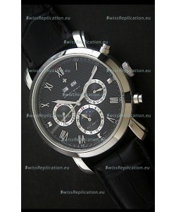 Vacheron Constantin Perpetual Calendar Japanese Watch in Black Dial