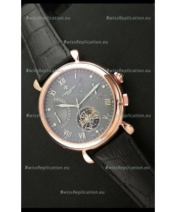 Vacheron Constantin Reserve Tourbillon Japanese Replica Rose Gold Watch in Grey Dial