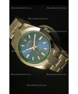 Rolex Milgauss 116400GV Swiss Watch with Blue Dial
