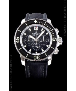 Blancpain Blancpain Fifty Fathoms Chronograph Flyback Black 1:1 Mirror Replica Watch