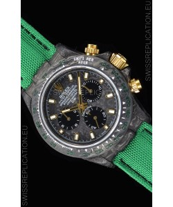 Rolex Daytona DiW Forged Cabon Casing 1:1 Mirror Replica with Green Nylon Strap
