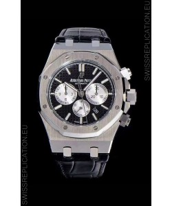Audemars Piguet Royal Oak Chronograph Black Dial 904L Steel 1:1 Mirror Replica