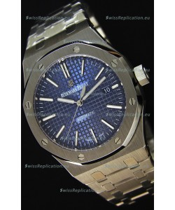 Audemars Piguet Royal Oak 41MM Blue Dial Steel Strap - 1:1 Mirror Ultimate Edition