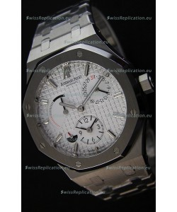Audemars Piguet Royal Oak Dual Time Swiss Replica Watch in White Dial