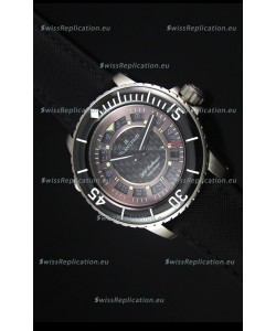 Blancpain 500 Fathoms Swiss Replica Watch in Grey Carbon Dial - 1:1 Mirror Edition