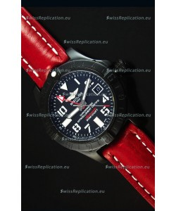Breitling Chronometre GMT Black Dial Swiss Replica Watch in PVD Casing