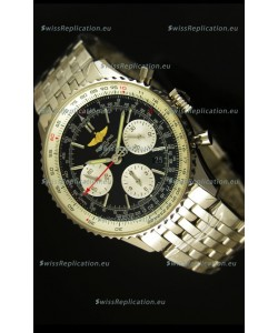 Breitling Navitimer 01 Swiss 1:1 Mirror Updated 2017 Replica Watch in Black Dial