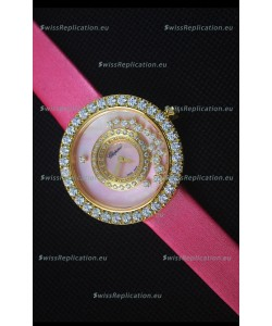Chopard Happy Dreams 36MM in Pink Dial and Pink Strap