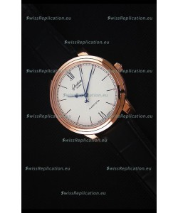 Glashuette Senator Excellence Cream Dial Rose Gold Case Swiss Watch