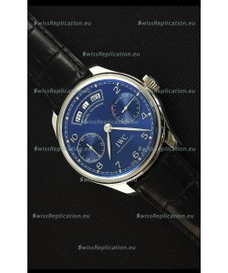 IWC Portugieser Annual Calender Midnight Blue IW503502 1:1 Mirror Replica Watch