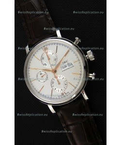 IWC Portofino Chronograph IW391022 White Dial 1:1 Mirror Replica Watch