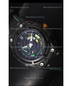 Linde Werdelin Spidolite II Swiss Replica Watch in Green Forged Carbon Case