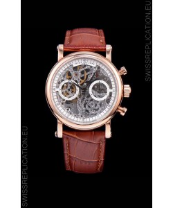 Patek Philippe Complications Skeleton Chronograph Watch in Rose Gold