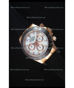 Rolex Daytona 116515 Everose 1:1 Mirror Replica White Dial Watch