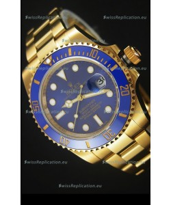 Rolex Submariner 16618 Gold Ceramic Bezel Replica 1:1 Watch with Swiss 3135 Movement