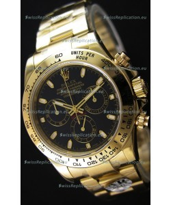 Rolex Cosmograph Daytona 116528 Yellow Gold Original Cal.4130 Movement - Improved Ultimate 904L Steel Watch