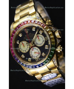 Rolex Cosmograph Daytona 116598 Yellow Gold 1:1 Mirror Cal.4130 Movement - Ultimate 904L Steel Watch