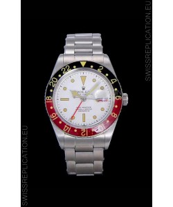 Rolex GMT Master ALBINO Edition Vintage Swiss Watch in White Dial